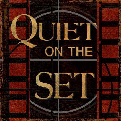 Quiet on the Set Framed Art Print