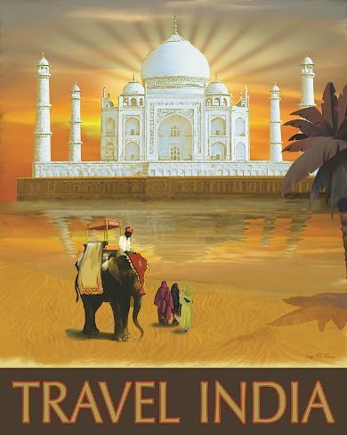 Travel India Impressão em tela esticada
