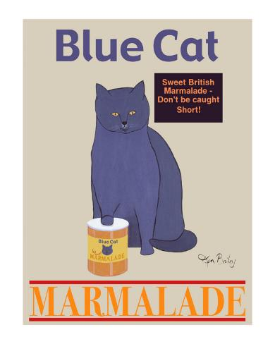 Blue Cat Collectable Print