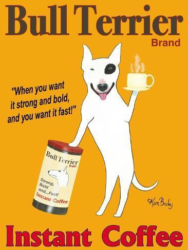 Bull Terrier Brand Premium Giclee Print