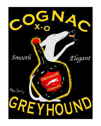 Greyhound Cognac Collectable Print