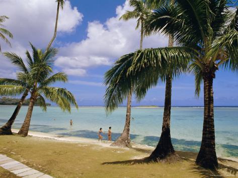 Beach at the Dai Ichi Hotel, Guam, Marianas Islands Photographic Print