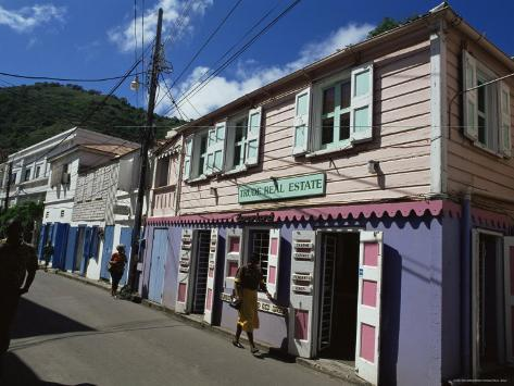 Main Street, Road Town, Tortola, British Virgin Islands, West Indies, Caribbean, Central America Photographic Print