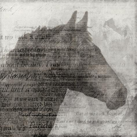 Equestrian Story 1 Art Print