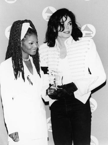 Michael Jackson and Janet Jackson - 1993 Photographic Print