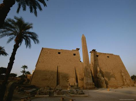 A View of the Exterior of a Temple at Luxor Photographic Print