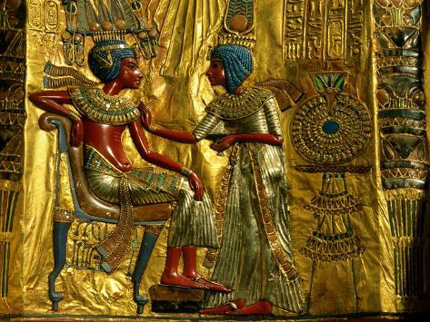 Gold and Silver Inlaid Throne from the Tomb of Tutankhamun, Valley of the Kings, Egypt Photographic Print