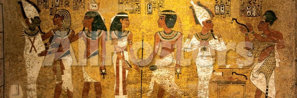 King Tut Tomb Wall, Egypt Photographic Print by Kenneth Garrett ...
