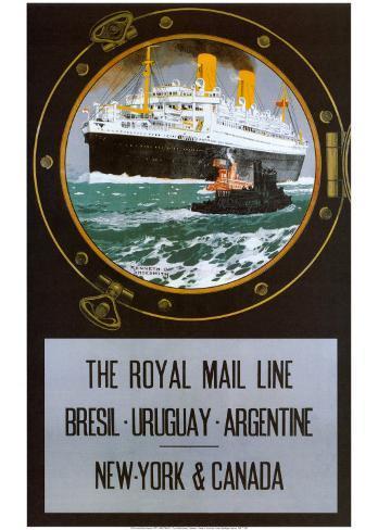 Royal Mail Line Art Print