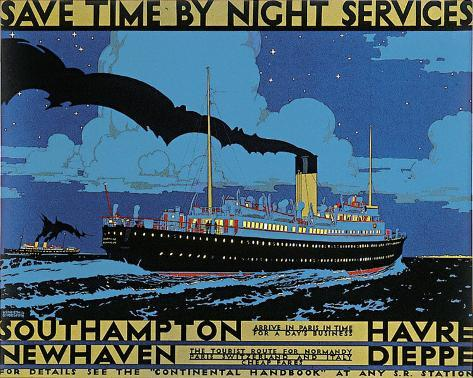 Save Time, Night Services Art Print