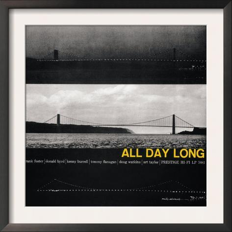 Kenny Burrell - All Day Long Framed Art Print