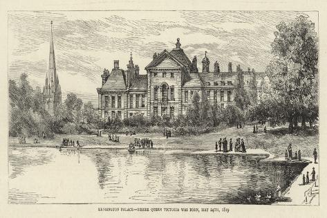 Kensington Palace, Where Queen Victoria Was Born, 24 May 1819 Giclee Print