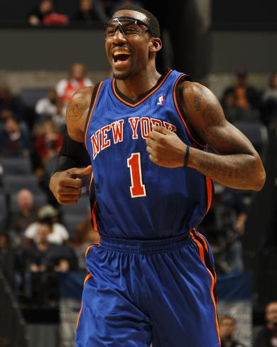 New York Knicks v Charlotte Bobcats: Amar'e Stoudemire Photo