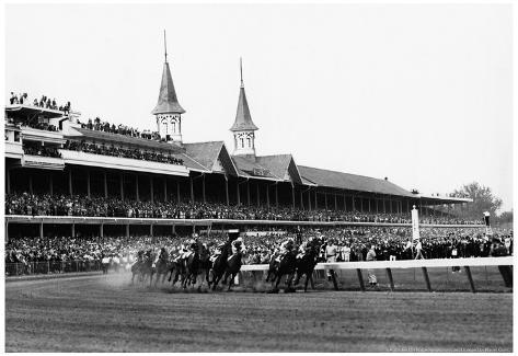 Kentucky Derby Horse Racing 1960 Archival Photo Poster Poster
