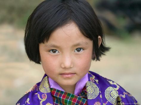 Bhutanese Girl, Wangdi, Bhutan Photographic Print