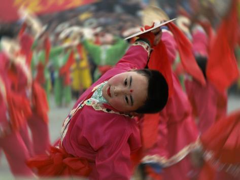 Children Celebrating Chinese New Year, Beijing, China Photographic Print