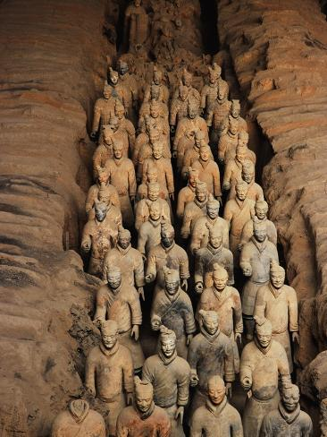 Terracotta Warrior Statues in Qin Shi Huangdi Tomb Photographic Print