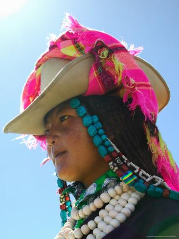 Tibetan Girl, Tibet, China Photographic Print