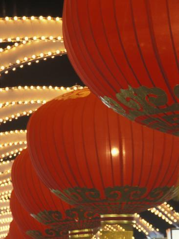 Traditional Red Lanterns, China Photographic Print