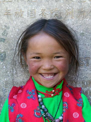 Young Tibetan Girl, Sakya Monastery, Tibet, China Photographic Print