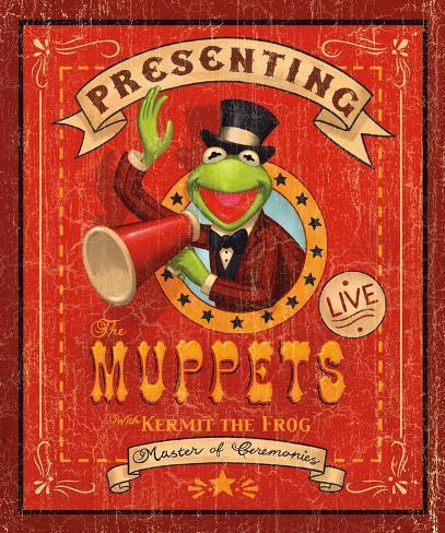 Kermit the Frog: Master of Ceremonies Art Print