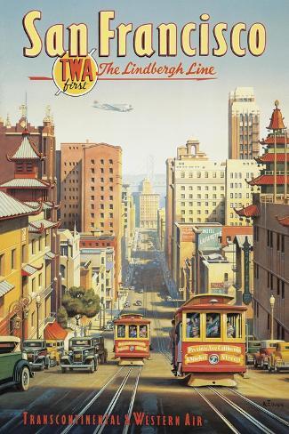 A Linha Lindbergh, São Francisco, Califórnia Adesivo de parede