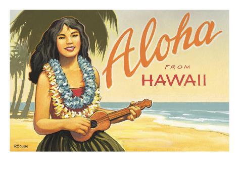 Aloha from Hawaii Giclee Print