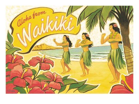 Aloha from Waikiki Giclee Print