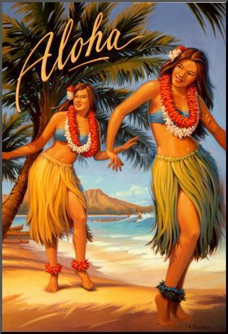 Aloha, Hawaii Art Print
