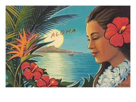 Aloha Moonrise Giclee Print
