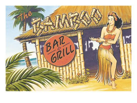 Bamboo Bar and Grill, Hawaii Giclee Print