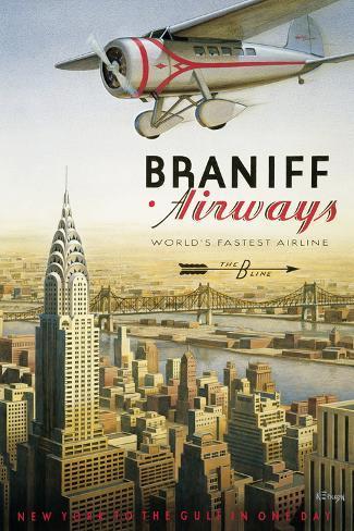Braniff Airways, Manhattan, New York Giclee Print