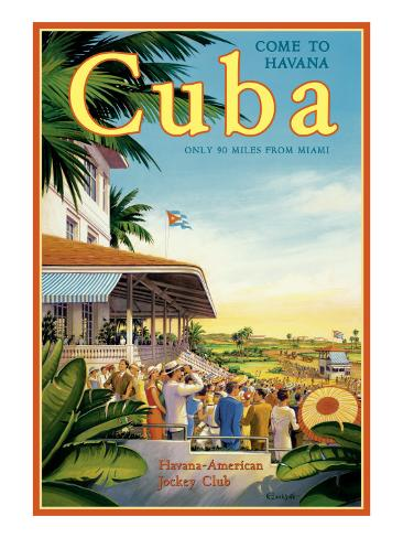 Cuba and American Jockey Gicléetryck