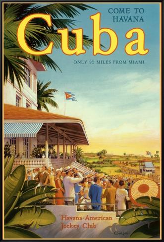 Cuba and American Jockey Framed Canvas Print