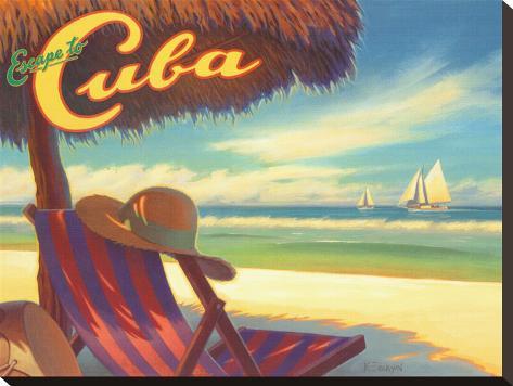 Escape to Cuba Stretched Canvas Print