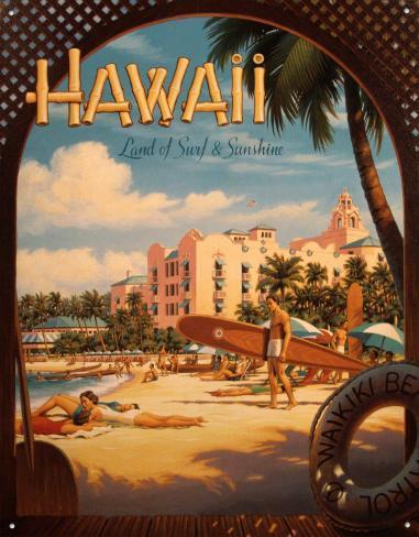 Hawaii Tin Sign