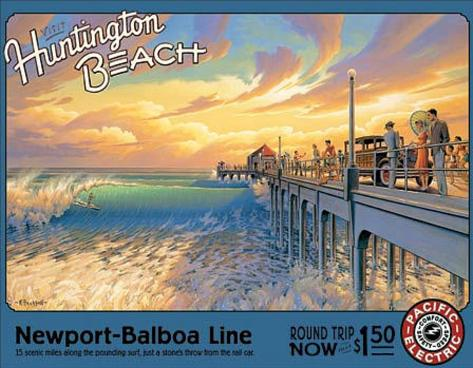 Kerne Erickson - Huntington Beach Tin Sign