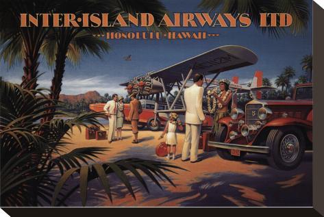 Inter-Island Airways Stretched Canvas Print
