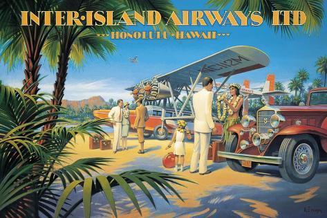 Inter-Island Airways Adesivo de parede