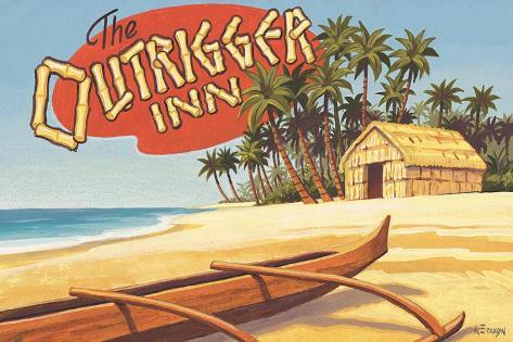 Outrigger Inn, Hawaii Adesivo de parede