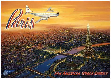 Over Paris Art Print