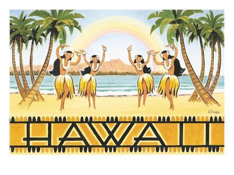 Rainbow Hawaii Giclee Print