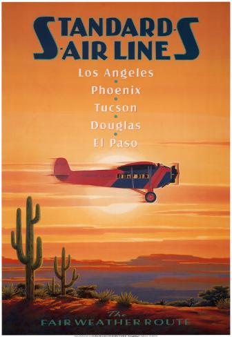 Standard Airlines, El Paso, Texas Art Print