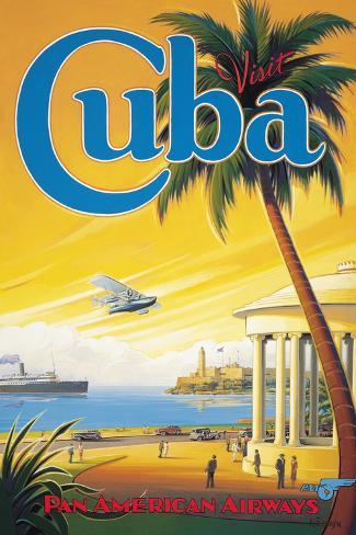 Visit Cuba Giclee Print