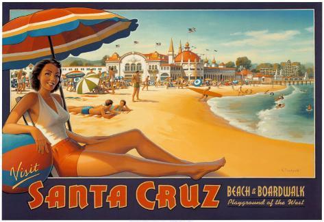 Visit Santa Cruz Art Print