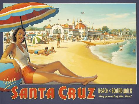 Visit Santa Cruz Wall Decal