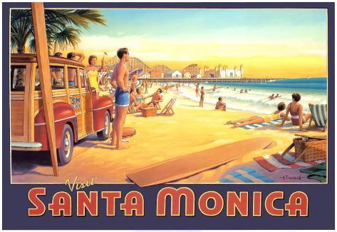 Visit Santa Monica Art Print