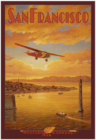 Western Air Express, San Francisco, Kalifornien Konstprint