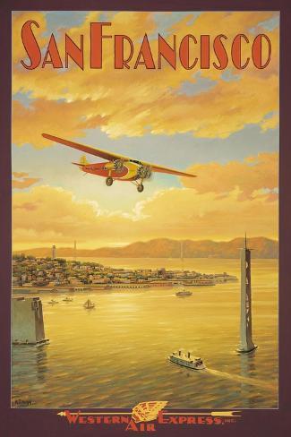 Western Air Express, São Francisco, Califórnia Adesivo de parede