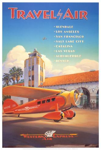 Western Air Express Art Print